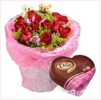 淇县在线鲜花预定各种包装鲜花礼盒快速送货上门淇县鲜