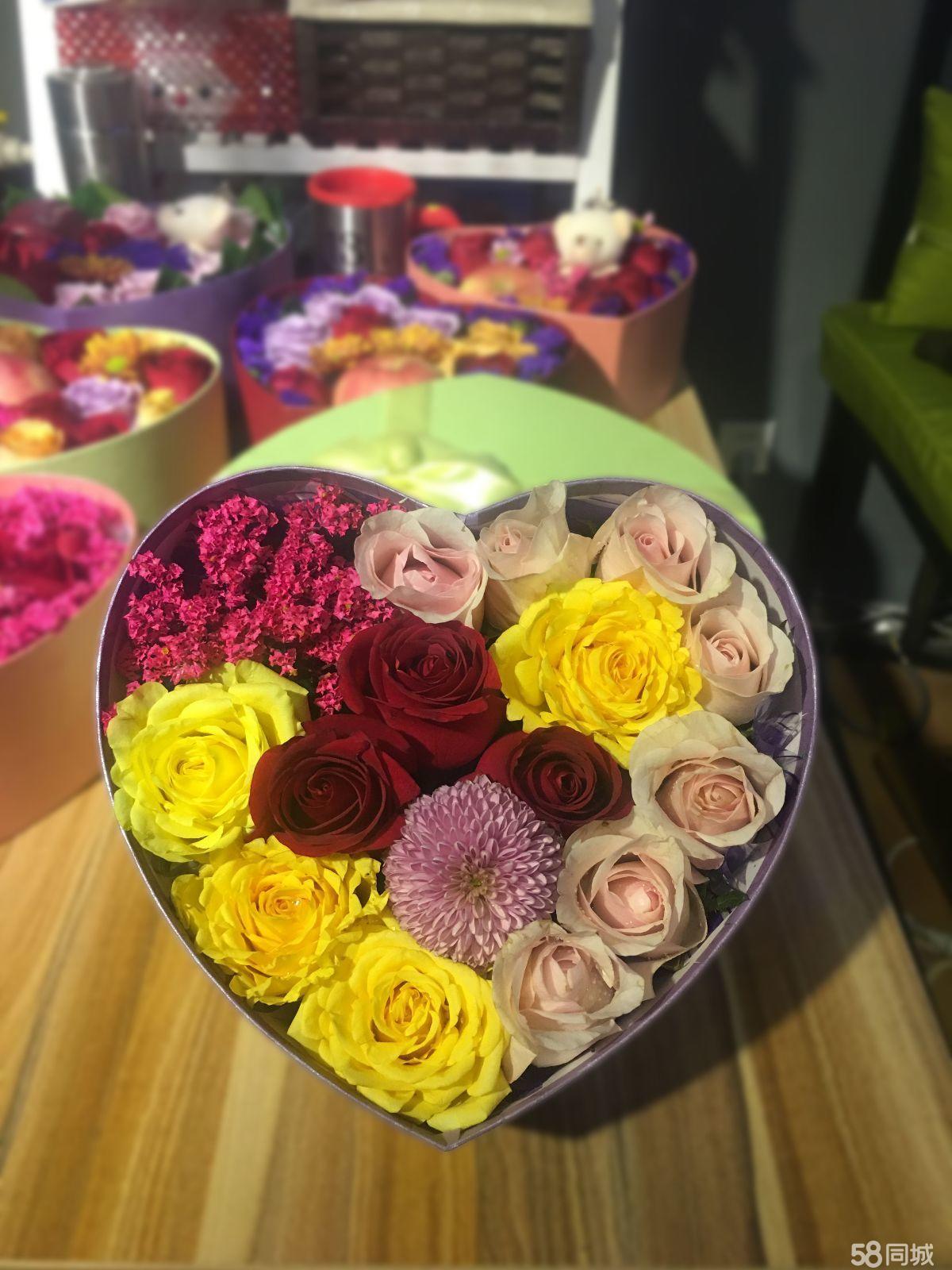精美鲜花花束,大型卡通玩偶送惊喜《2017爱在一起