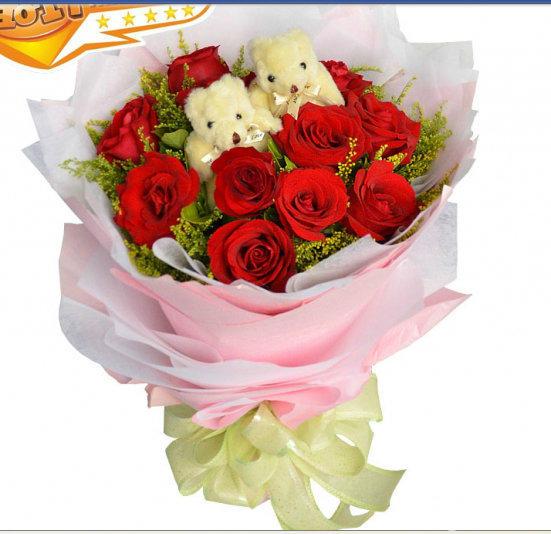 礼泉县桌花台花预定网上鲜花店定制送货上门玫瑰鲜花预
